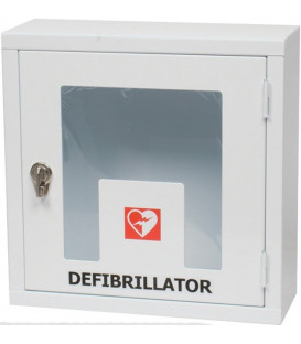 Alarmed internal enclosure for defibrillators